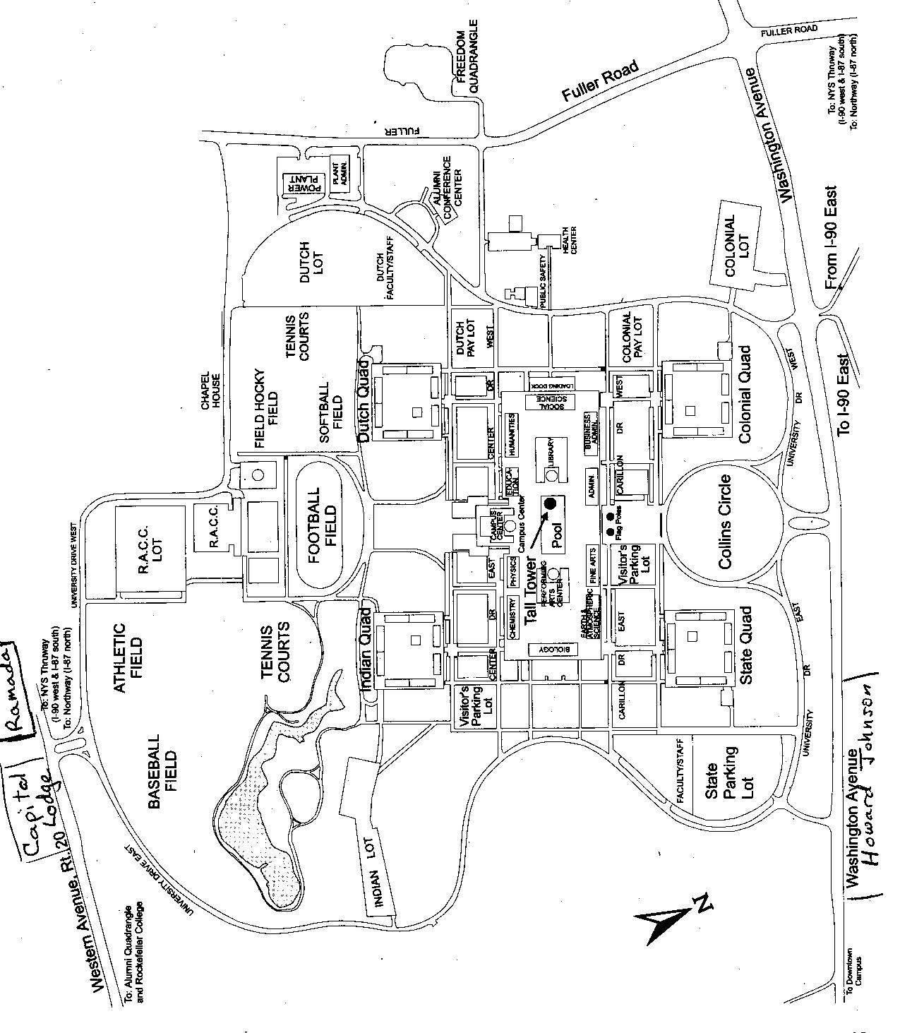Directions And Campus Map For NYJM Conference At The